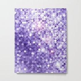 Ultra Violet Purple Glitter Metal Print