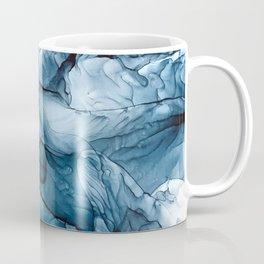 Churning Blue Ocean Waves Abstract Painting Coffee Mug