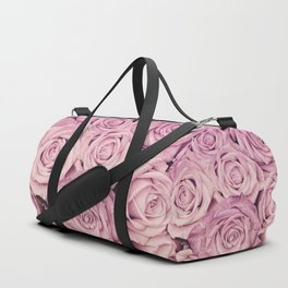 Some People Grumble - Pink Rose Pattern - Roses Duffle Bag