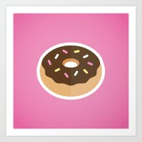 donut Art Prints featuring Donut by Mike McDonald