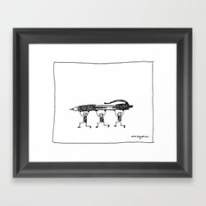 Pen Gremlins Framed Art Print