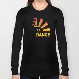 dancing couple silhouette - brazilian zouk Long Sleeve T-shirt