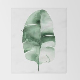 Banana Leaf no. 6 Throw Blanket