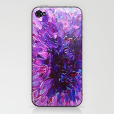 LOTUS BLOSSUM - Beautiful Purple Floral Abstract, Modern Decor in Eggplant Plum Lavender Lilac iPhone & iPod Skin