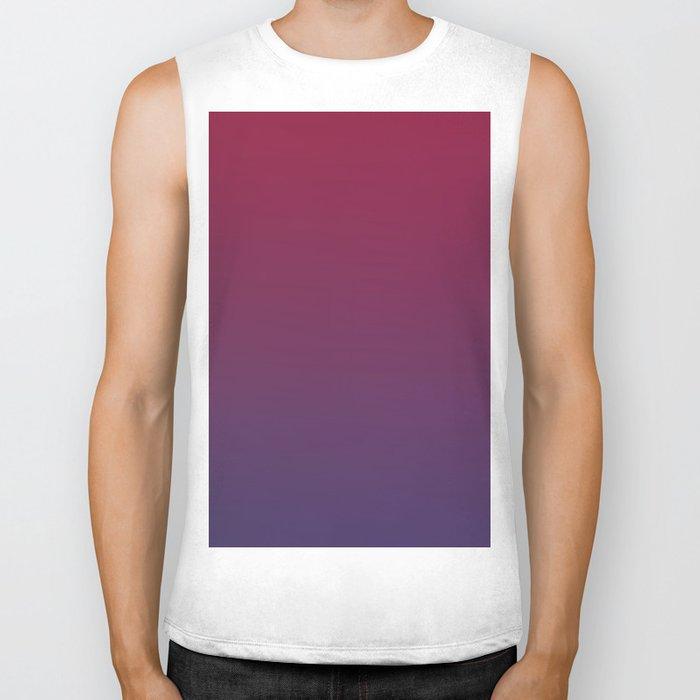 DESTINATION - Minimal Plain Soft Mood Color Blend Prints Biker Tank