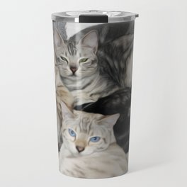 Bengal Cat Kitty Pile  Travel Mug
