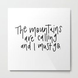 Mountains v.2 Metal Print