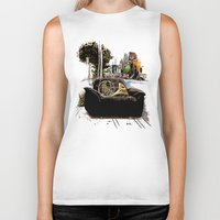 montreal Biker Tanks featuring Chairs of Montreal by Salgood Sam