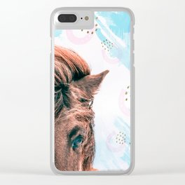 Horse horseshoes Clear iPhone Case