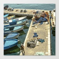 fishing Canvas Prints featuring Fishing by Sébastien BOUVIER