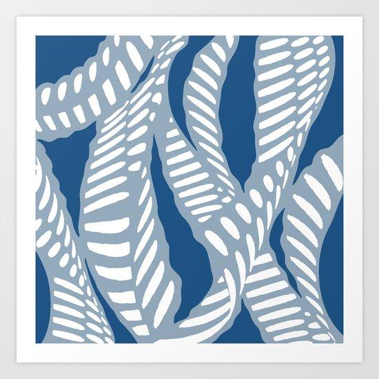 Al Peas: Blue Tonal Art Print