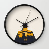 movie poster Wall Clocks featuring Movie Poster by Inno Theme
