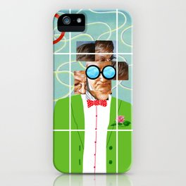 Hockney illustration iPhone Case