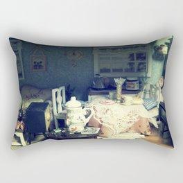 abandonded dollhouse Rectangular Pillow