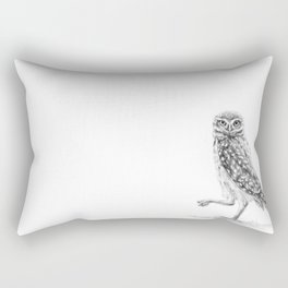 The Burrowing Owl Rectangular Pillow