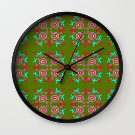 Tiles and Mosaics Wall Clock