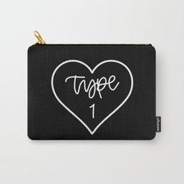 Type One Heart - White/Black Carry-All Pouch