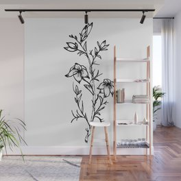 Carolina Jessamine Wildflower Wall Mural