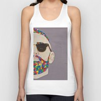 grafitti Tank Tops featuring grafitti art by Kristina Jovanova