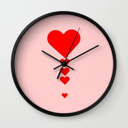 Exclamation mark - Love punctuation Wall Clock