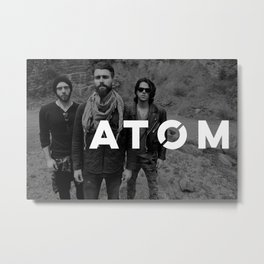 Atom Press Shot Metal Print
