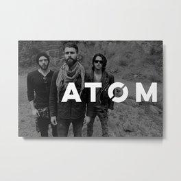 Atom Press Shot Metal Print