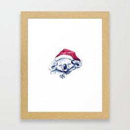 Christmas Koala Framed Art Print