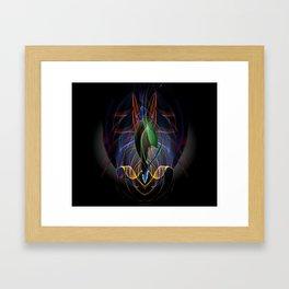 Art Deco Flower Framed Art Print