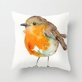 Robin Bobin Along Throw Pillow