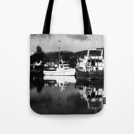 Boats on the Canal Tote Bag