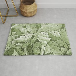 Celery Green Acanthus Plant Rug