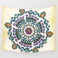 mandala Wall Tapestries featuring Mandala by famenxt