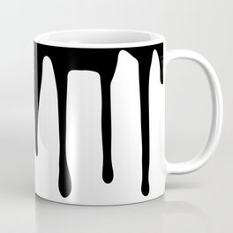 Black paint drips on white background Coffee Mug