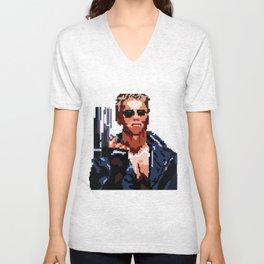 Terminator Pixelated Unisex V-Neck