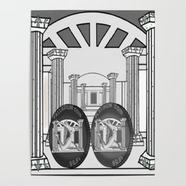 Necropolis Coins Palladium and Platinum 2 Poster