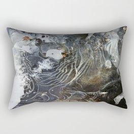 Ice layers on river Rectangular Pillow