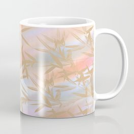 Floating Golden Leaves Abstract Coffee Mug