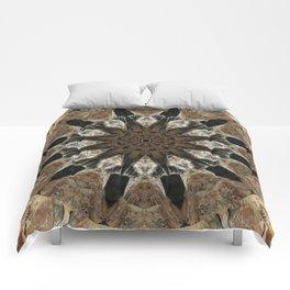Mandala black Star Comforters