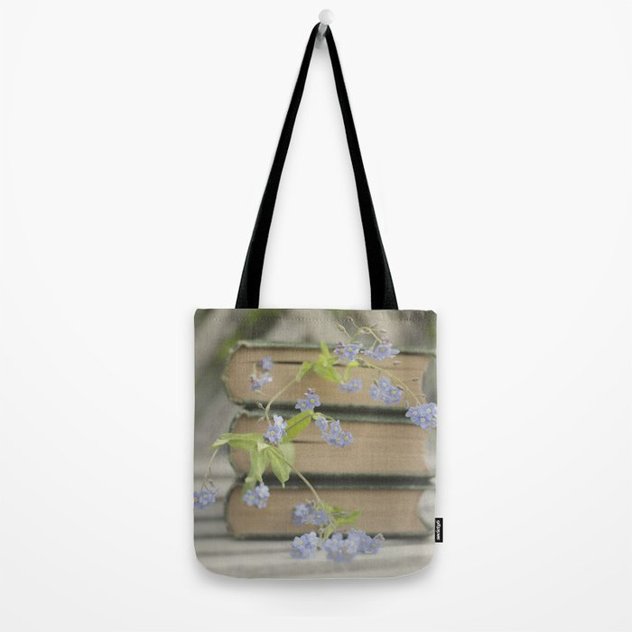 Forget Me Not Bookmark Tote Bag