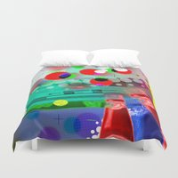 darwin Duvet Covers featuring DARWIN DNA by DARWIN STEAD