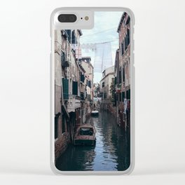 Cosy life, city scene in the Venice canals Clear iPhone Case