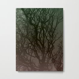 Ombre branches Metal Print