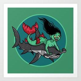 Mermaid Mayhem Art Print