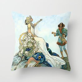 Czech and Slovak Fairy Tales by Artus Schneider Throw Pillow