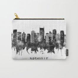 Nashville Tennessee Skyline BW Carry-All Pouch