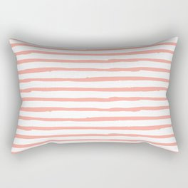 Pink Drawn Stripes Rectangular Pillow