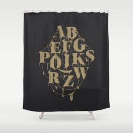 Type Splatt Shower Curtain