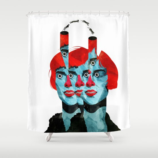 The cats in my head Shower Curtain