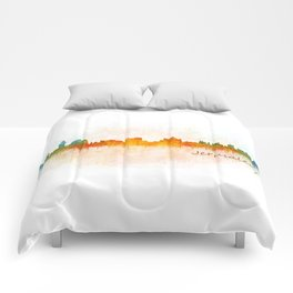 Jerusalem City Skyline Hq v3 Comforters