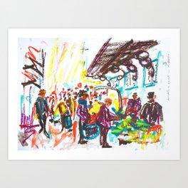 Al mercat Art Print
